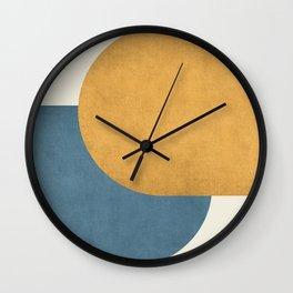Halfmoon Colorblock - Gold Blue Wall Clock