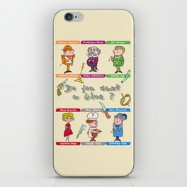 Do you want a clue ? Clue's characters board game iPhone Skin