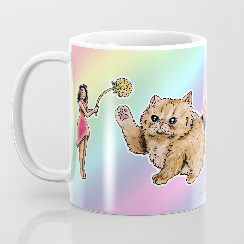 Tiny Pin ups & Fluffy Pets Coffee Mug