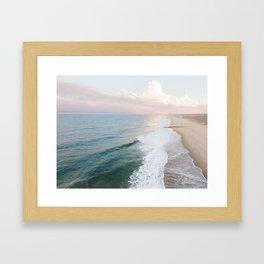 Shoreline At Sunset - Aerial Drone Photograph by Nalu Art Studio Framed Art Print