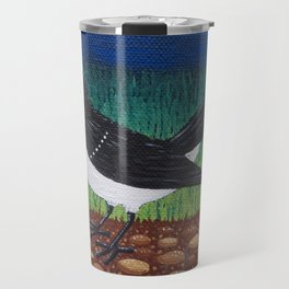 Willy Wagtail on the garden path Travel Mug