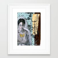 book cover Framed Art Prints featuring Vintage Book Cover Girl by Jeanne Oliver