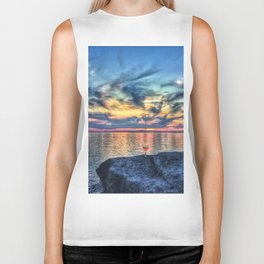 Wine & Sunsets Biker Tank