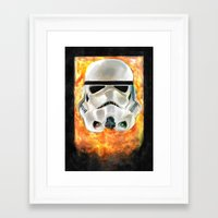 stormtrooper Framed Art Prints featuring Stormtrooper by Mishel Robinadeh
