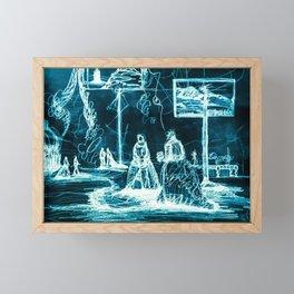 The Progress (Blue) Framed Mini Art Print