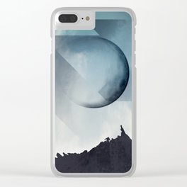 Jagged Peaks Clear iPhone Case