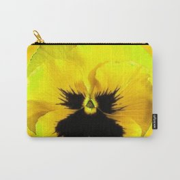 LARGE YELLOW  PANSY ON GOLDEN YELLOW COLOR Carry-All Pouch