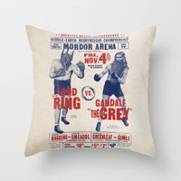 lord of the ring Throw Pillows featuring Lord of the Ring by Vó Maria