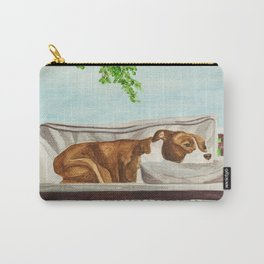 Pittie on a Porch Swing Carry-All Pouch