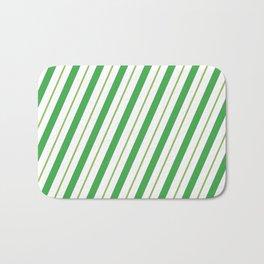 Green Peppermint - Christmas Illustration Bath Mat