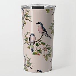 Vintage birds pattern Travel Mug