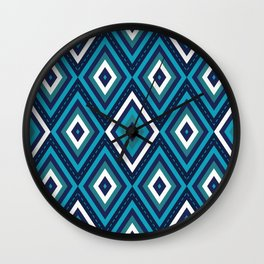 Blue Diamonds Wall Clock