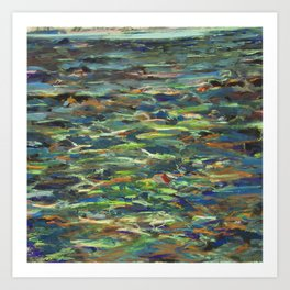 Marked Pools Art Print