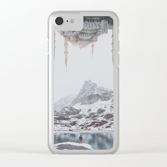Between Earth & City III Clear iPhone Case