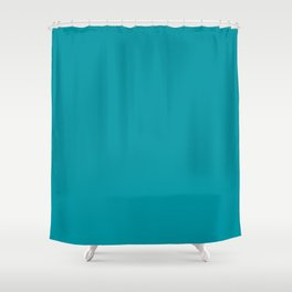 Turquoise Blue Teal | Solid Colour Shower Curtain