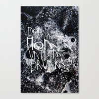 drunk Canvas Prints featuring Drunk by Jude's