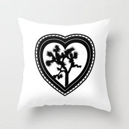 Heart of the Hi-Desert™ Joshua Tree by CREYES Throw Pillow