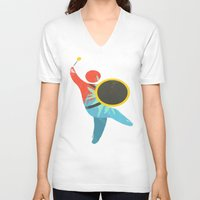 drum V-neck T-shirts featuring I Drum  by ArtistArt