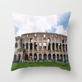 Italy Rome Colosseum Photography Art Decor Wall Art Black and White  Throw Pillow