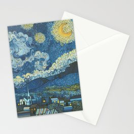 Swirly Night Stationery Cards