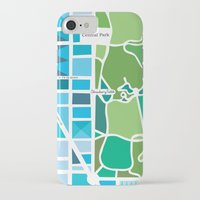 manhattan iPhone & iPod Cases featuring Manhattan by Jenny Wallmark