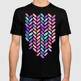 Rainbow Herringbone Watercolor Oblongs T-shirt