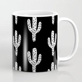 Cactus minimal linocut pattern southwest printmaking art summer Coffee Mug