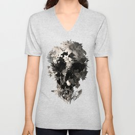 Spring Skull Monochrome Unisex V-Neck