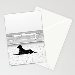 dog and child Stationery Cards