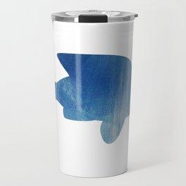 texture bleue Travel Mug
