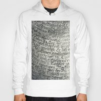 writing Hoodies featuring ancient writing by Falko Follert Art-FF77