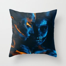 Look Like Zombie Girls, UV Colors Throw Pillow