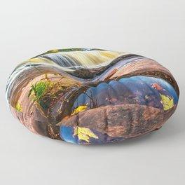 Mandio Falls - Porcupine Mountains Floor Pillow