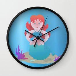 Haughty Little Mermaiden Wall Clock
