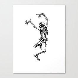 DANCING SKULL Canvas Print