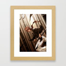 Fight Against Framed Art Print