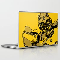 transformers Laptop & iPad Skins featuring Transformers: Bumblebee by Skullmuffins