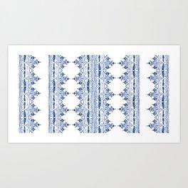 Bohem Blue Art Print