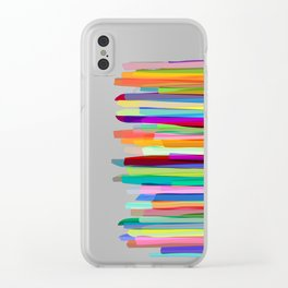 Colorful Stripes 1 Clear iPhone Case