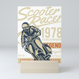 Scooter Racer Racing Championship Mini Art Print