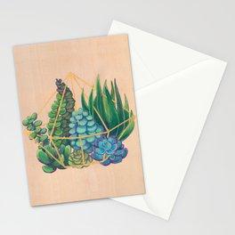 Geometric Terrarium 1 Acrylic on Wood Painting Stationery Cards