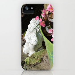 Sun kissed Garden Angel and Begonias iPhone Case
