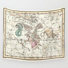 Taurus, Antinous, Aquila, Delphinus Constellations Celestial Atlas Plate 10 - Alexander Jamieson Wall Tapestry