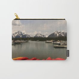 Canoe Meeting At Jackson Lake Carry-All Pouch