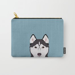 Shiloh - Husky Siberian Husky dog art phone case perfect gift for dog people Carry-All Pouch