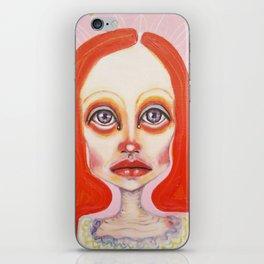 pink orange iPhone Skin