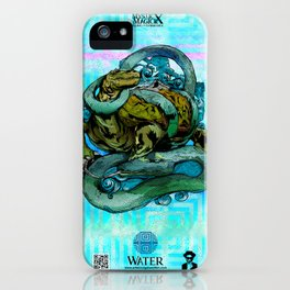 Mysticx & Magick - The Elementals: Genbu, The Water Tortoise of the Northern Tides iPhone Case