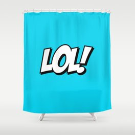 Laughing Typeface Shower Curtain