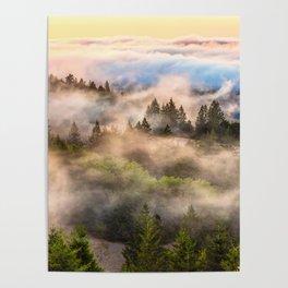 Coastal Fog Over Mount Tamalpais Poster