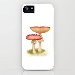 Mushroom Painting | Fly Agaric | AMANITA MASCARA | Watercolour iPhone Case